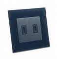 illucio Black Designer 2 Gang (Female) HDMI Socket